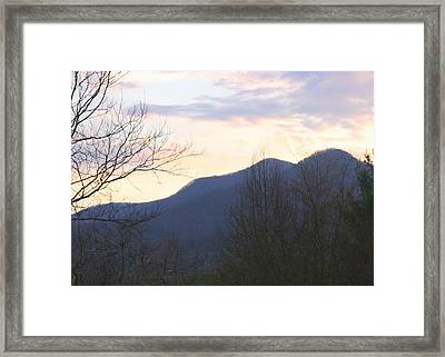 Mountain Sunset Eight Framed Print by Paula Tohline Calhoun