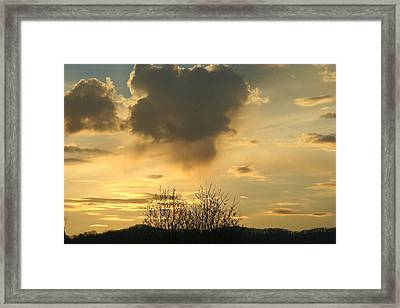 Mountain Sunset Five Framed Print by Paula Tohline Calhoun