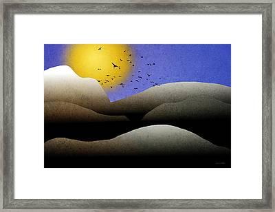 Mountain Sunset Landscape Art Framed Print by Christina Rollo