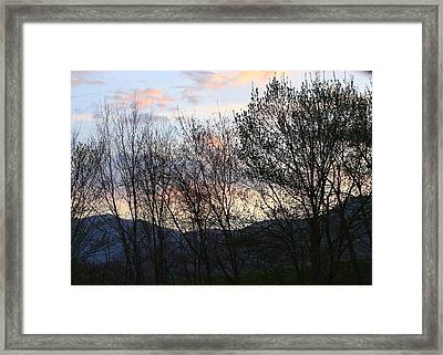 Mountain Sunset Nine Framed Print by Paula Tohline Calhoun
