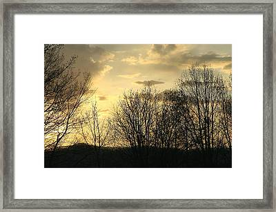 Mountain Sunset One Framed Print by Paula Tohline Calhoun