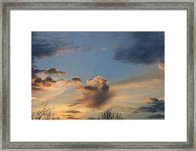 Mountain Sunset Seven Framed Print by Paula Tohline Calhoun