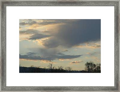 Mountain Sunset Six Framed Print by Paula Tohline Calhoun