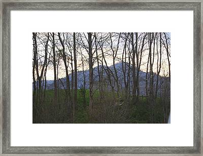 Mountain Sunset Ten Framed Print by Paula Tohline Calhoun