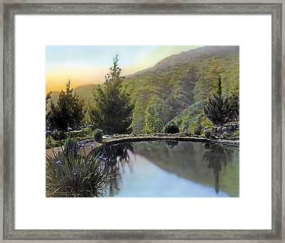 Mountain Sunset Framed Print by Terry Reynoldson