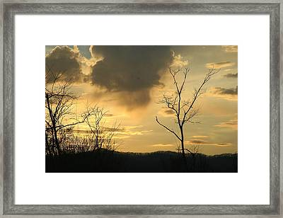 Mountain Sunset Three Framed Print by Paula Tohline Calhoun