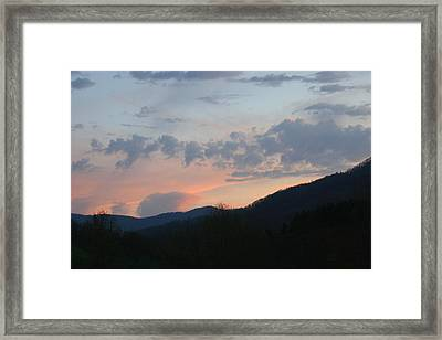 Mountain Sunset Twelve Framed Print by Paula Tohline Calhoun