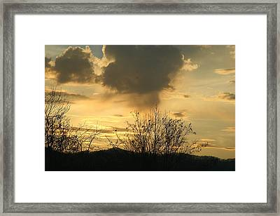Mountain Sunset Two Framed Print by Paula Tohline Calhoun