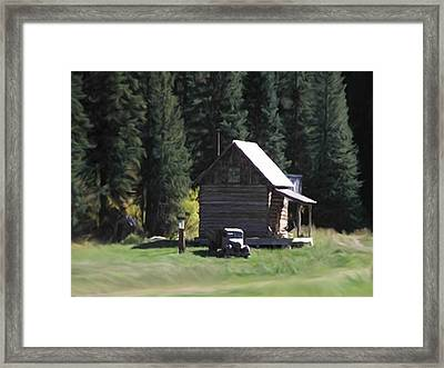 Mountain Town General. Store Framed Print by Dennis Buckman