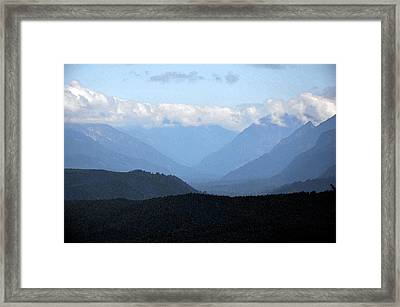 Mountain Valley Framed Print by Kirt Tisdale