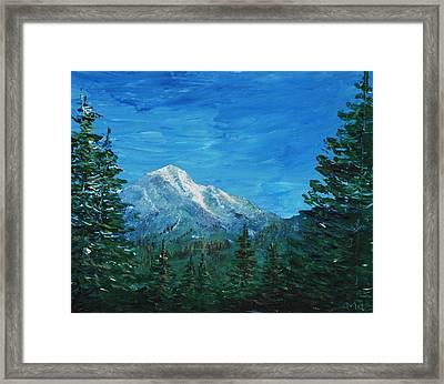 Mountain View Framed Print by Anastasiya Malakhova