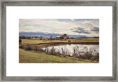 Mountain View Barn Framed Print by Heather Applegate