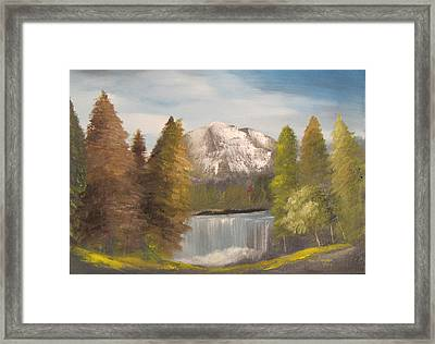 Mountain View Framed Print by Dawn Nickel