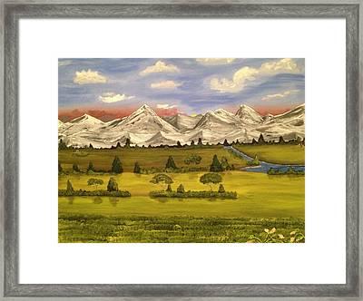 Mountain View Framed Print by Scott Wilmot
