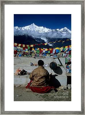 Mountain Worship Framed Print by James Brunker