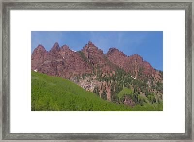 Mountaineering The Elk Range Framed Print by Dan Sproul