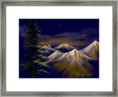 Mountains Framed Print by Twinfinger