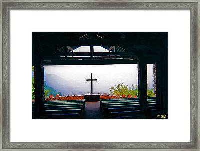 Mountaintop Chapel  Framed Print by CHAZ Daugherty