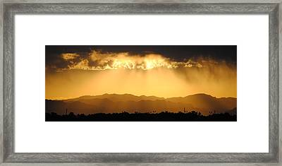 Mountians After The Rain Framed Print by Edward Curtis