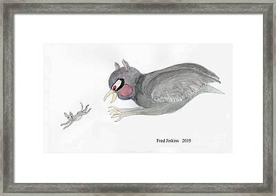 Mouse Escape Watercolor Framed Print by Fred Jinkins