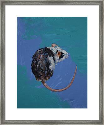 Mouse Framed Print by Michael Creese