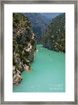 Mouth Of The Verdon River  Framed Print by Bob Phillips