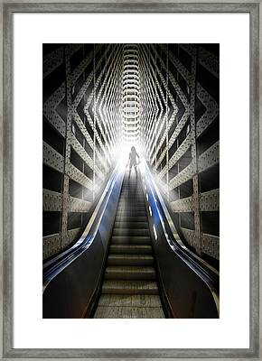 Move Into The Light Framed Print by Nathan Wright