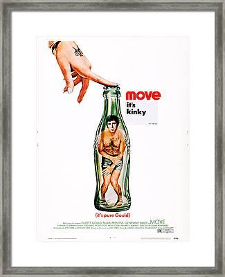 Move, Us Poster Art, Elliott Gould Framed Print by Everett