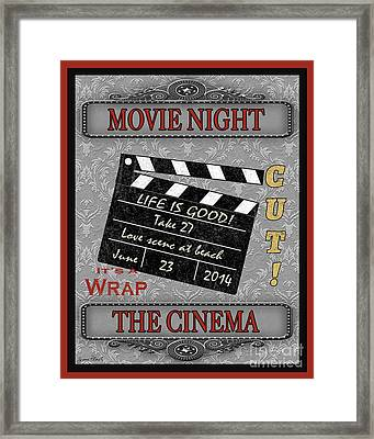 Movie Night-jp2205 Framed Print by Jean Plout