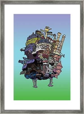 Moving Castle Framed Print by Jera Sky