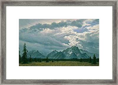 Moving Clouds-mount Moran Framed Print by Paul Krapf