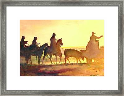 Moving Cows Framed Print by Don Dane