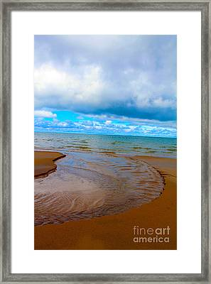 Moving Out On The Water Framed Print by Nina Silver