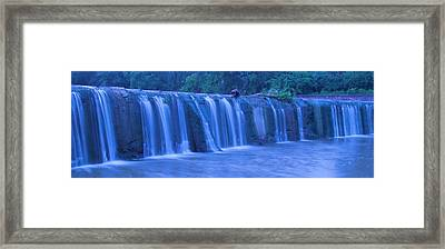 Spring Waterfall Framed Print by Dan Sproul