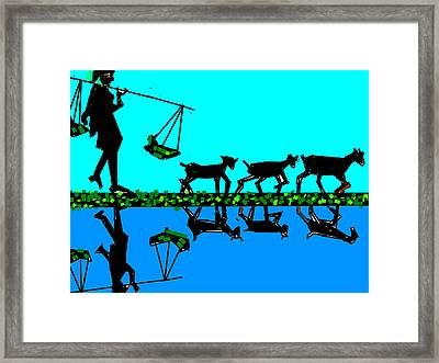 Moving With Mirror Framed Print by Anand Swaroop Manchiraju