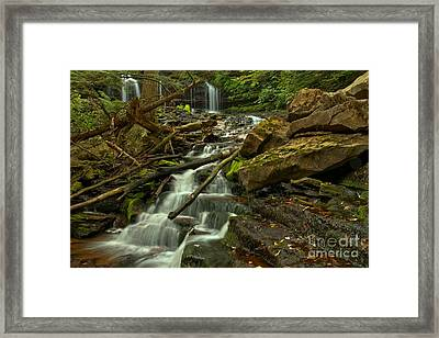 Mowhawk Falls Cascades Framed Print by Adam Jewell