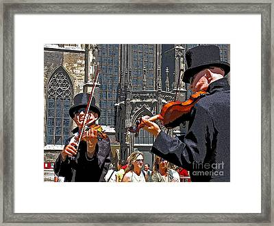 Mozart In Masquerade Framed Print by Ann Horn