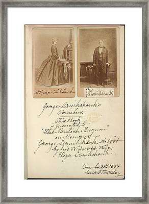Mr And Mrs Cruikshank Framed Print by British Library