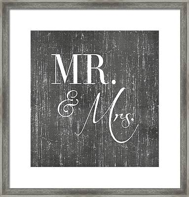 Mr. And Mrs. Framed Print by Jaime Friedman
