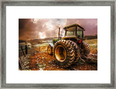 Mr. Big Framed Print by Debra and Dave Vanderlaan