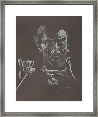 Mr Conductor Framed Print by Karen Loughridge KLArt