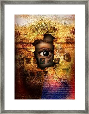 Mr C's Watching Me Framed Print by Alessandro Della Pietra