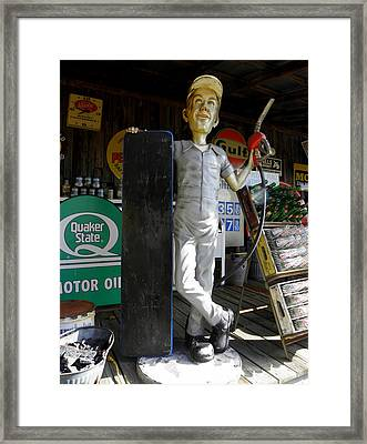 Mr Gas Pump Mechanic Framed Print by Kim Galluzzo Wozniak