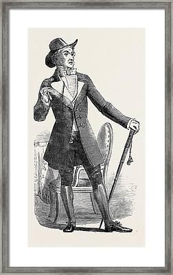Mr. J. Wallack, As Dr Framed Print by English School