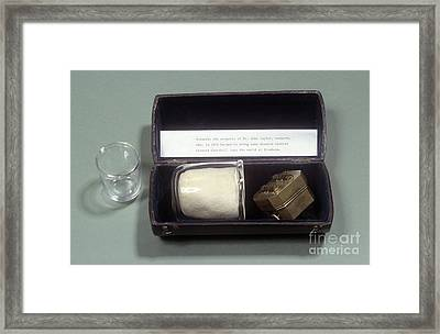 Mr. John Taylor's Cupping Set, Circa 1870 Framed Print by Science Photo Library