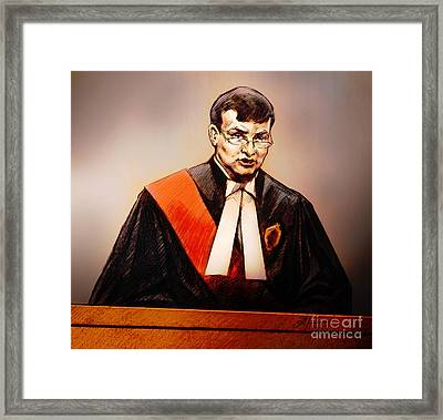 Mr. Justice Mcmahon - Judge Of The Ontario Superior Court Of Justice Framed Print by Alex Tavshunsky