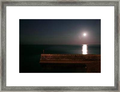 Mr. Moon Framed Print by Theresa Selley