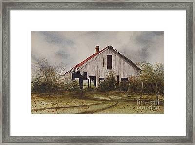 Mr. Munker's Old Barn Framed Print by Charles Fennen