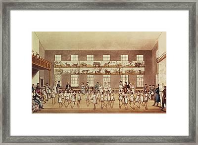 Mr Owens Institution, New Lanark Framed Print by English School