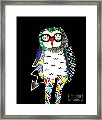 Mr. Owl Framed Print by Amy Sorrell